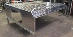 A bench top which was custom made in Mackay - B & B Hazell Sheet Metal Works