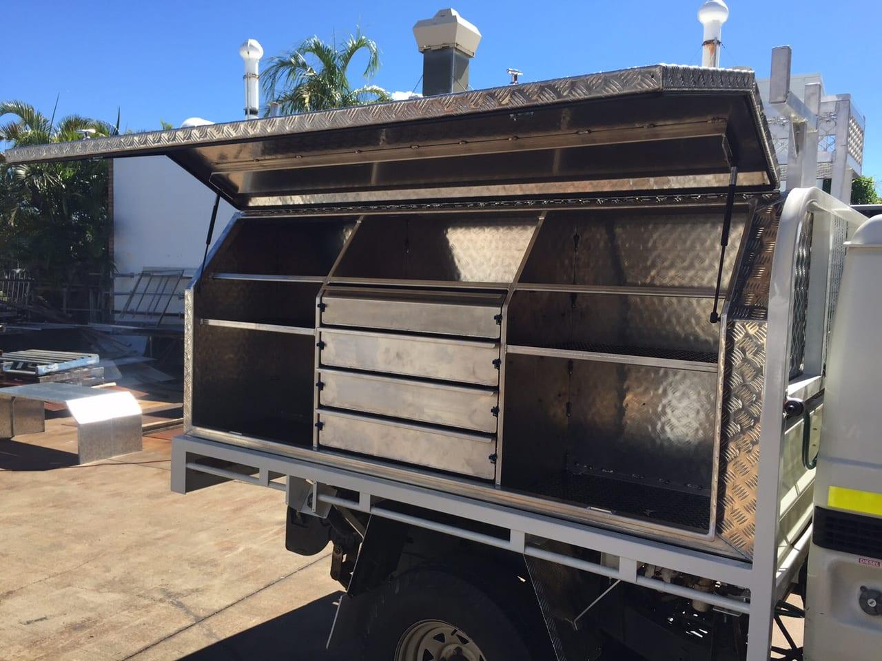 A custom built steel toolbox in Mackay - - B & B Hazell Sheet Metal Works