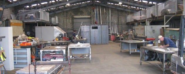 Inside the workshop - B & B Hazell Sheet Metal Works