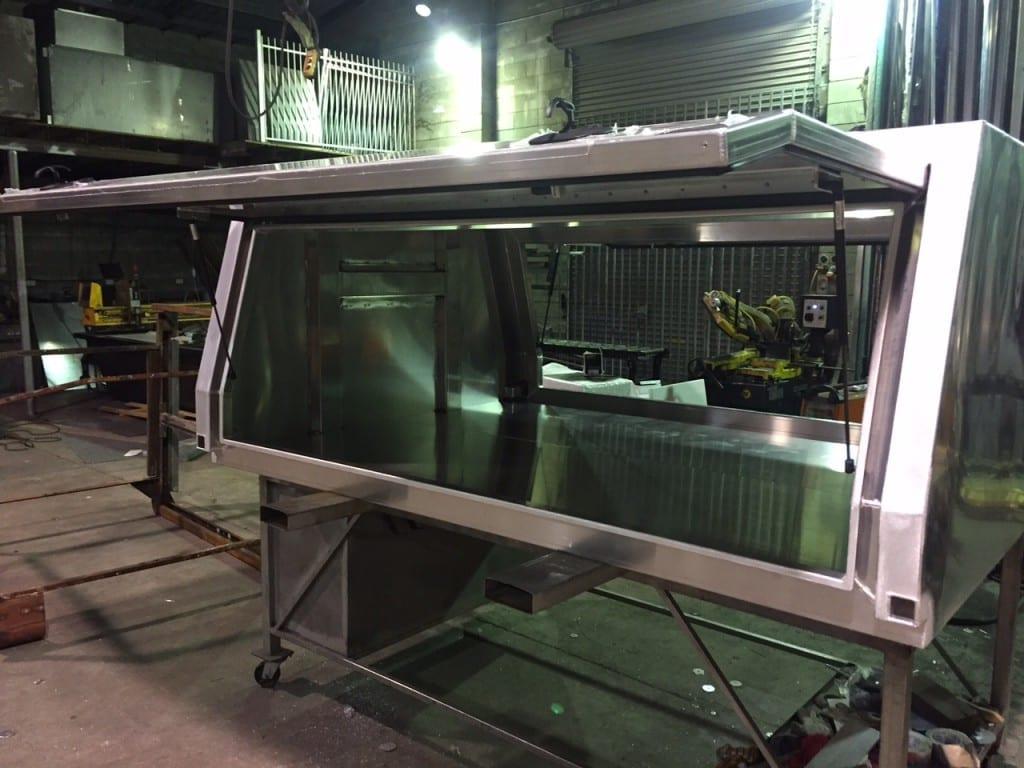 A Steel Canopy being built in Mackay